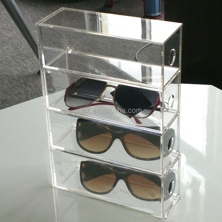 transparent acrylic sunglasses display case buy sunglasses display case desktop acrylic. Black Bedroom Furniture Sets. Home Design Ideas