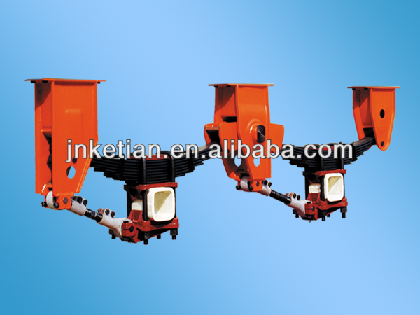 High Quality Semi Trailer Suspension with Leaf Spring Square Axle Suspension Parts