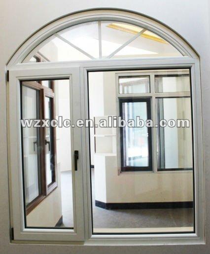 Ventana de arco de madera pintado de blanco ventanas for Puertas en forma de arco