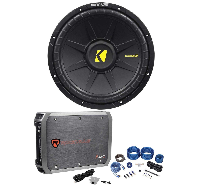 Buy Package Brand New Crunch Pzt5002 500 Watt 2 Channel Bridgeable Best Wiring Kits For Car Audio Kicker 40cwd122 12 Inch 600 Peak 300 Rms Dual Ohm Subwoofer Rockville Rxd M1 Cea Compliant Mono Class D 1