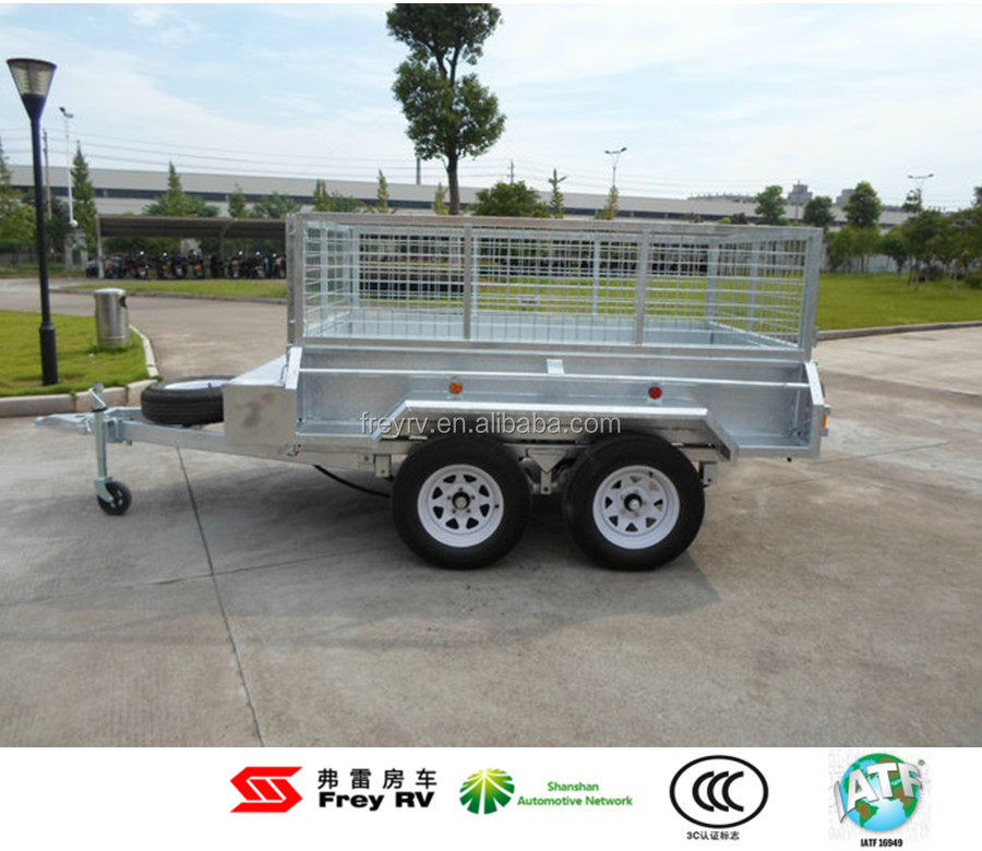8'X5' , 10'X5', 12'X5' Hydraulic dump and double axle trailer with TS and CCC certificate