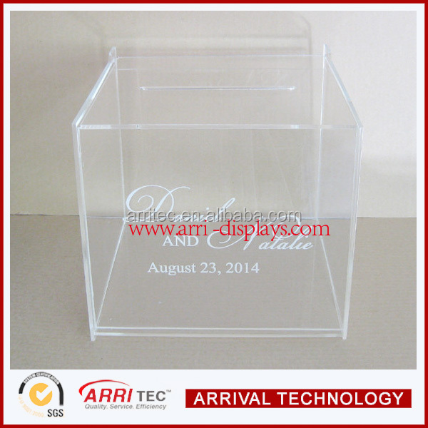 alibaba china made wholesale clear acrylic ballot box suevey opinion container for election compaign voting conference