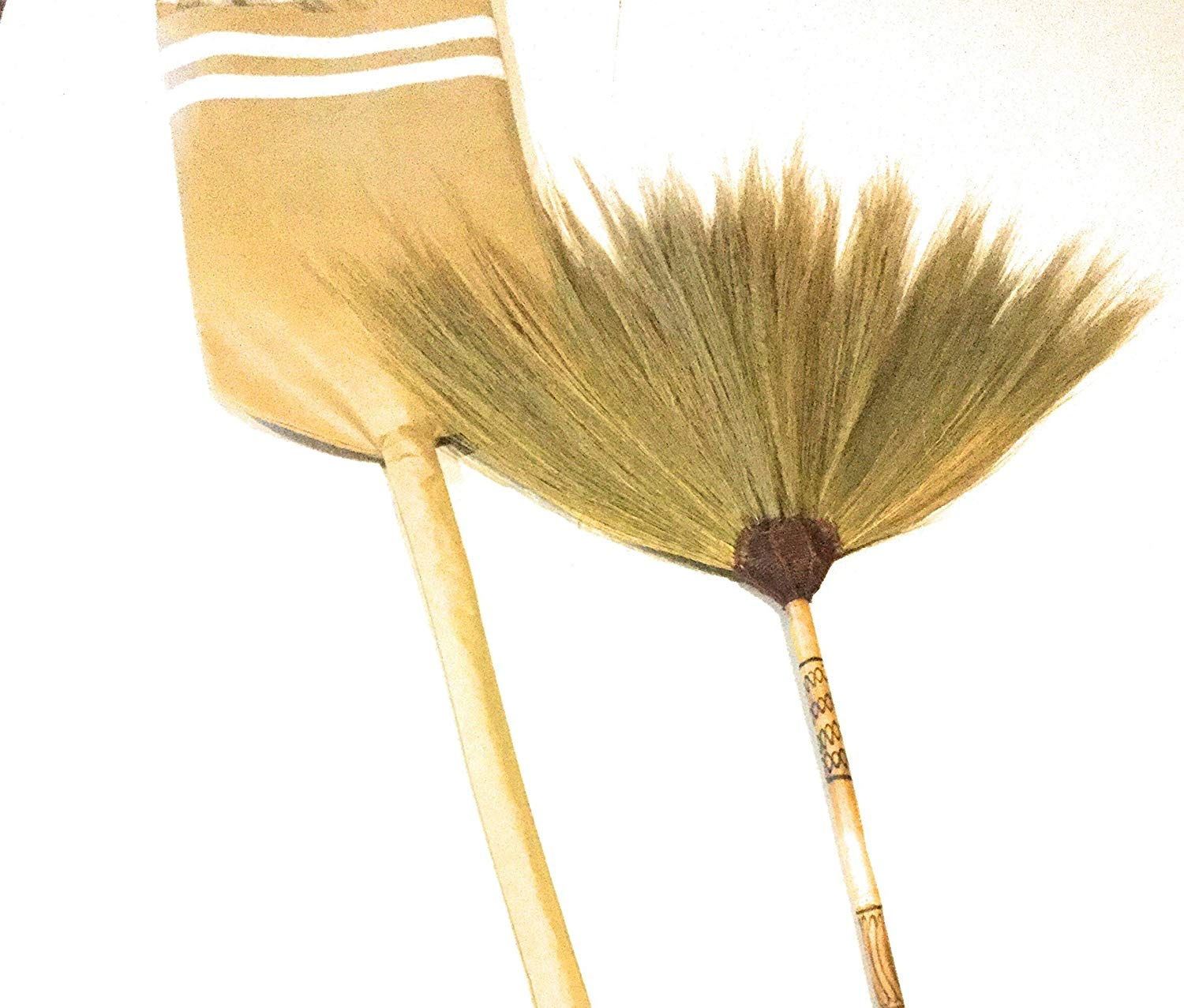 Brooms Pouch Fabric Broom with Brooms Bamboo Handle Hand