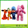 Cartoon Wrapping stuffed plush big eyes zoo animal set toy for kids