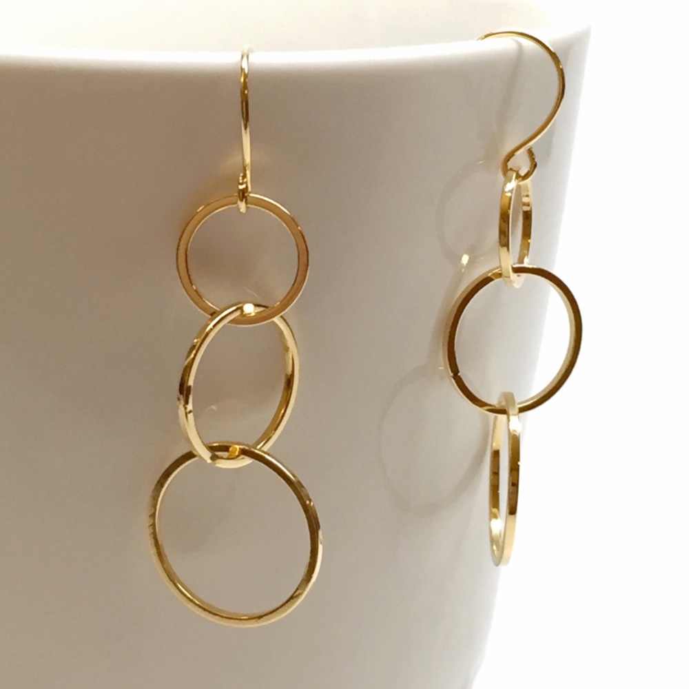 304 Stainless Steel Gold Ring Shaped Earrings Type Product On Alibaba