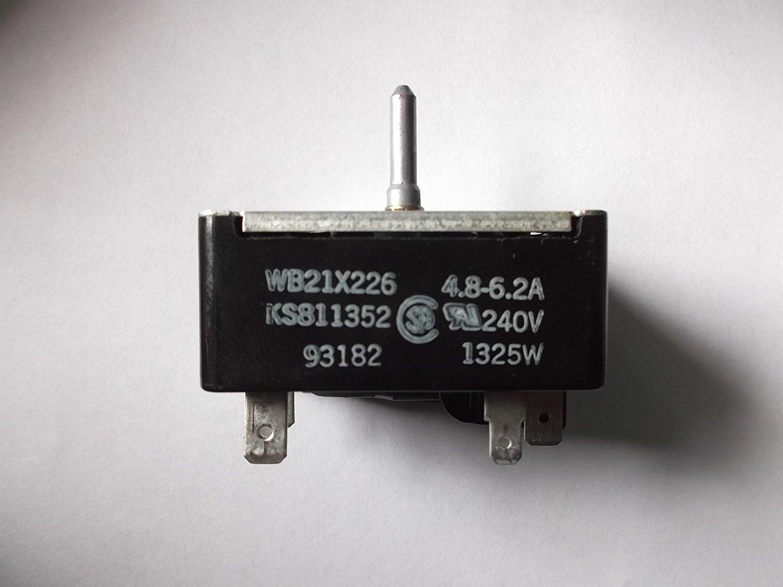 GE Range Burner Switch WB21X226 or KS811352-1  4.8-6.2A