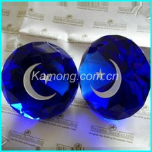 Competive engraved crystal diamond paperweight for the wedding, home decoration