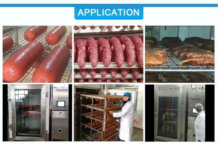 ZXL-1000 Affumicato Produzione di Carne di Pollo Forno Macchina Per Fare Fumo Salsiccia di Pesce