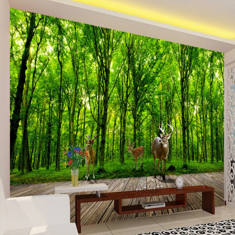 popular free jungle wallpaper buy cheap free jungle wallpaper lots from china free jungle. Black Bedroom Furniture Sets. Home Design Ideas