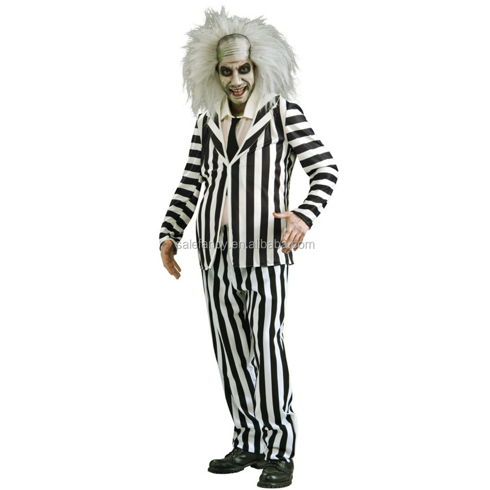 beetlejuice men halloween easy man cosplay wholesale cosplay