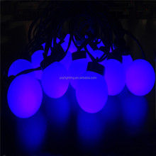 220V party christmas and holiday decoration led blue ball string light