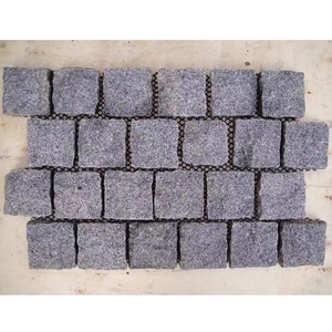 Cheap Dark Gray Padang Black G654 Outdoor Driveway Granite Block Paving Stone