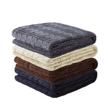 Wholesale chinese supplier knitting wool blanket cheap wholesale weighted blanket