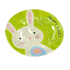Lovely Round Easter Decoration Ceramic Bunny Plate