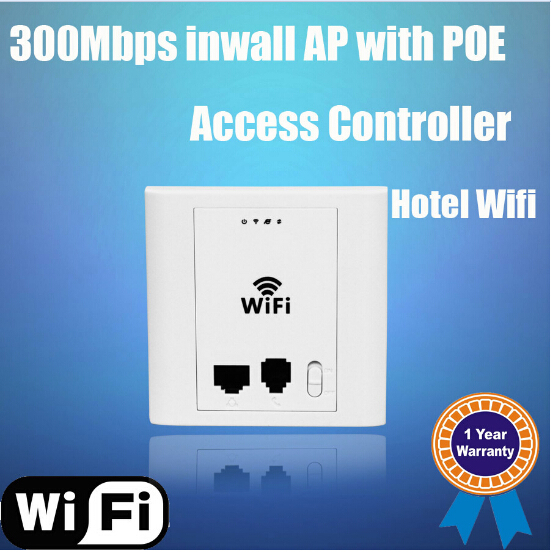 Indoor inwall Wireless AP 1000mw POE Power Supply Full Hotel Wireless Signal Coverage