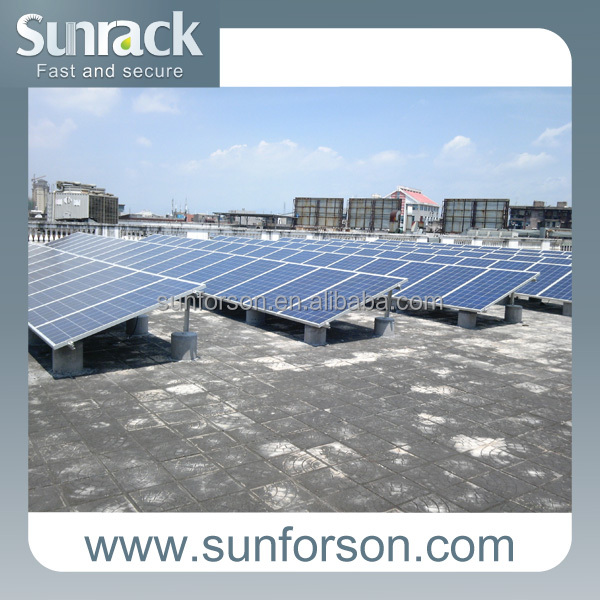 Mounting roof, thin film solar panel