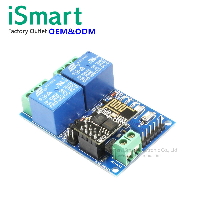 5V ESP8266 ESP-01 2 Channel WiFi Switch Relay Module 2 Channel Relay Module For IOT Smart Home