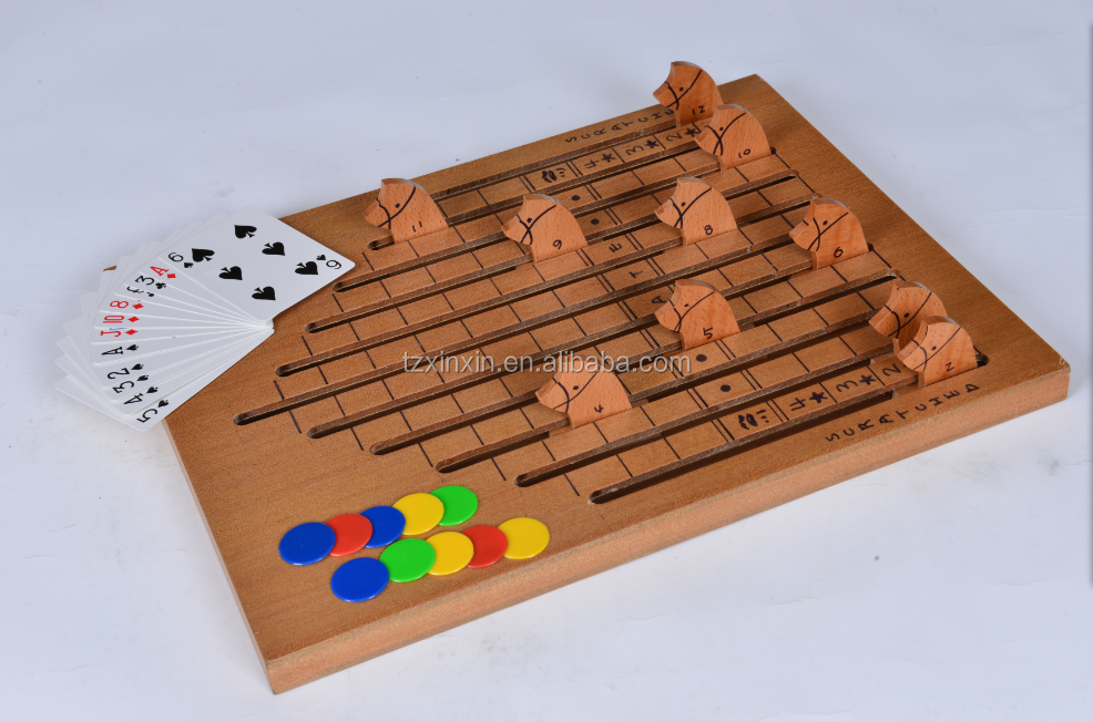 Wooden Horse Race Game Board Game Buy Horse Racing GameBoard Game Extraordinary Wooden Horse Race Game