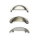 Different finishes Zinc alloy cabinet pull shell handle