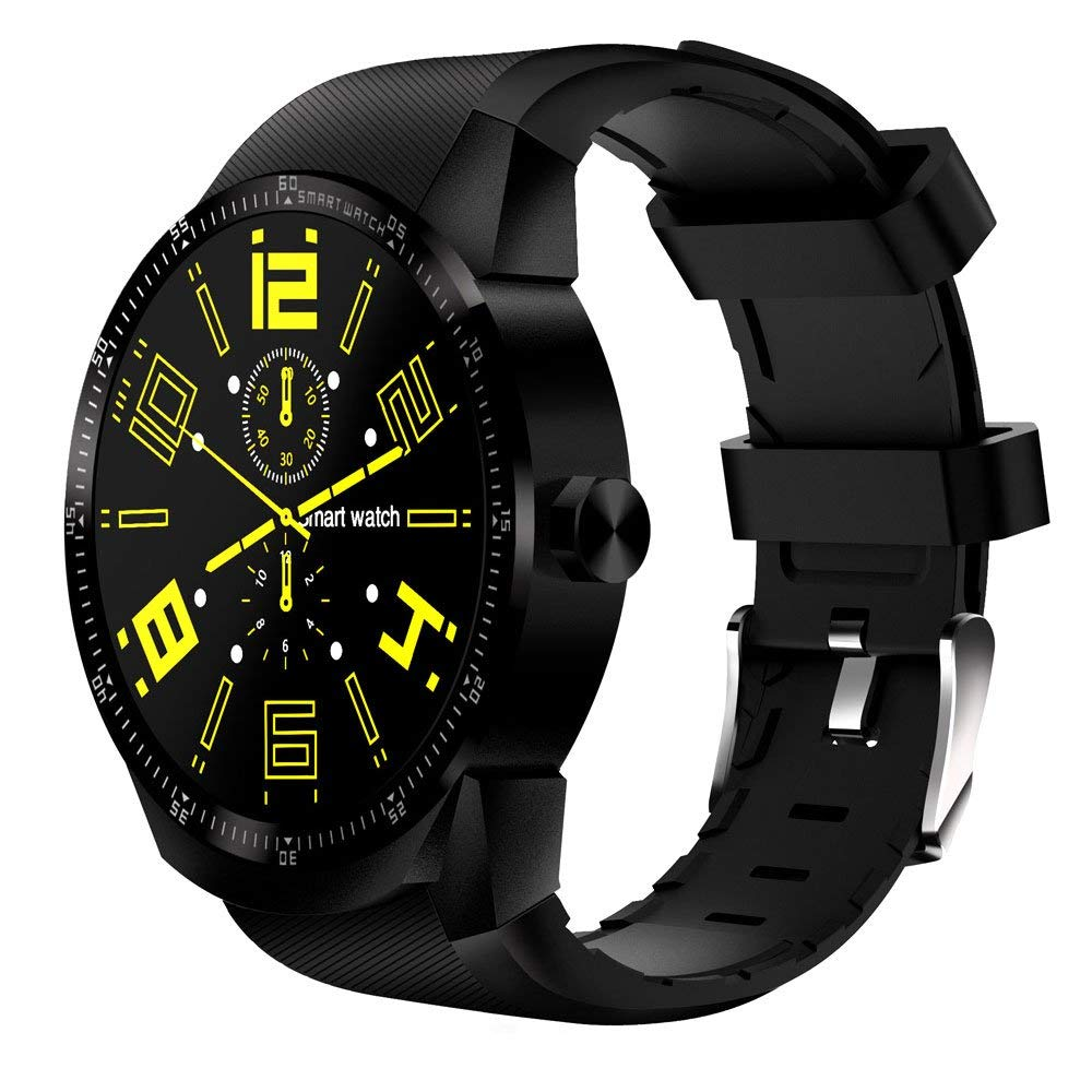 hongfei Bluetooth Smart Watch with Touch Screen, Tracker Fitness Smart Watch With Sim Card Slot for iOS and Android - K98H MTK6572A Dual Core 512M + 4G Network