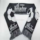 New football fans scarf jacquard pattern fashion scarf small MOQ