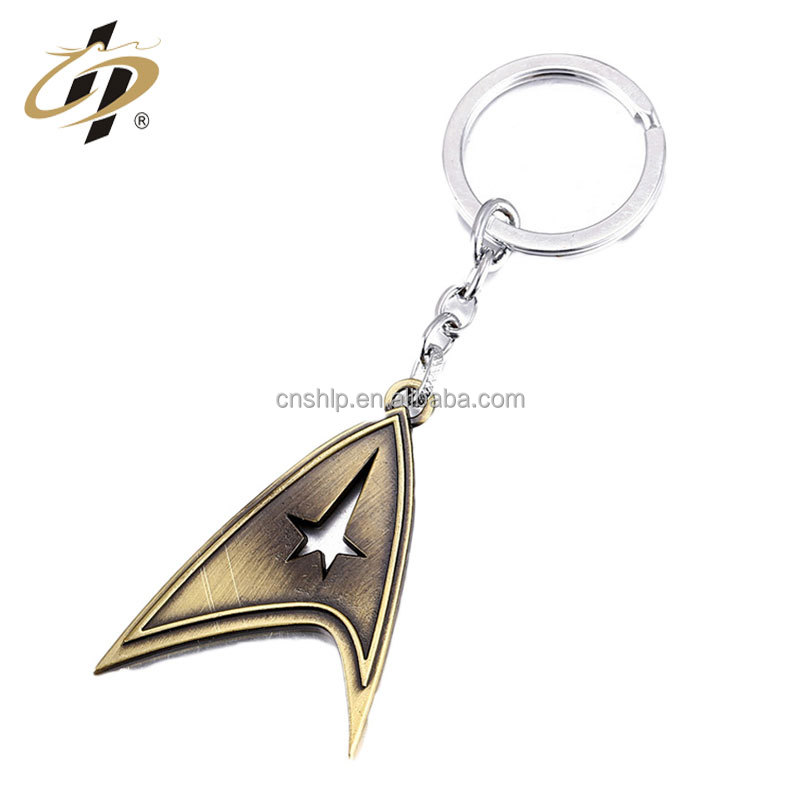 High quality factory price casting nautical antique star metal custom key ring finder