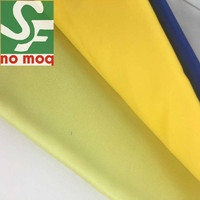 Customized color Waterproof organic 100% Polyester satin fabric