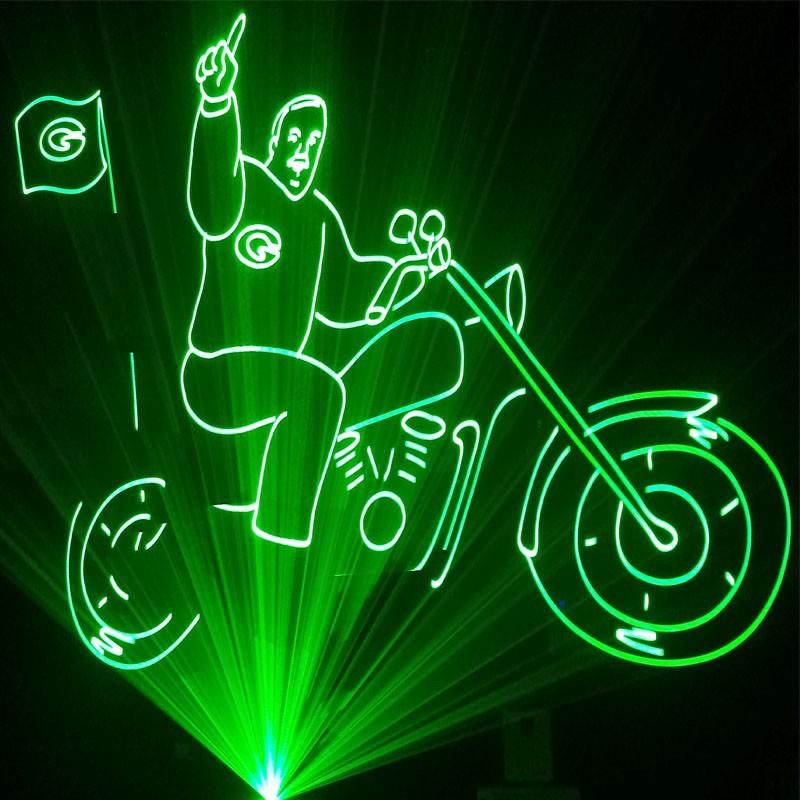 5 w rgb vert laser show system pour ext rieur lumi res for Laser exterieur noel
