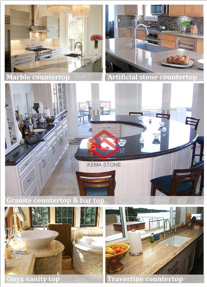 White Marble Veneer Bar Top Countertops