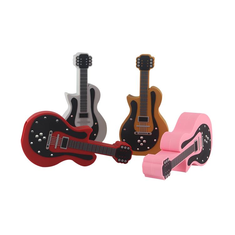 ギター形状ポータブルワイヤレススピーカーミニスピーカーカスタマイズパーソナライズされた Bluetooths スピーカー