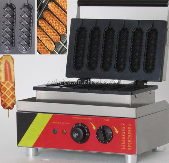 low price corn dog ceramic waffle makercast iron waffle making machine
