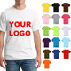 High Quality Men's Short Sleeves O Neck T Shirts 150gsm 100% Cotton Accept Printing Embroidery Your Logo