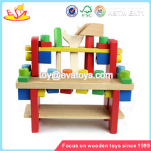 wholesale colorful disassembly tool sets toy for kids high quality wooden tool sets toy W03D024