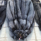 Wholesale Natural Color Raw Silver Fox Fur Skin / Real Pelt For Garment