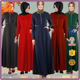 2017 Latest Fashion High Quality Winter Islamic Turkey Abaya Plus Size Maxi Dress With Long Sleeve For Dubai Women