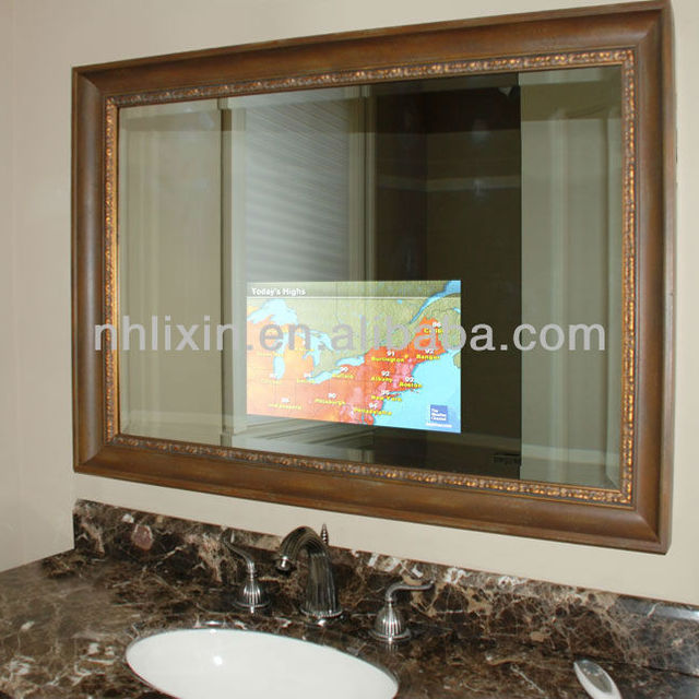 IP54 Waterproof Mirror HDMI TV Bath Morror Bathroom