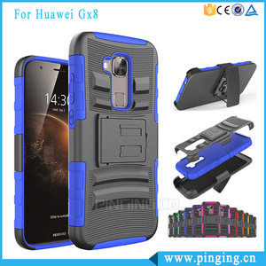 Heavy Duty 3 in 1 Belt Clip Holster Case For Huawei Gx8 G7 Plus With Kickstand