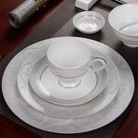 M07024 Customed Dinnerware Porcelain , Table Decoration Porcelain / Ceramic Dinner Set with Decal