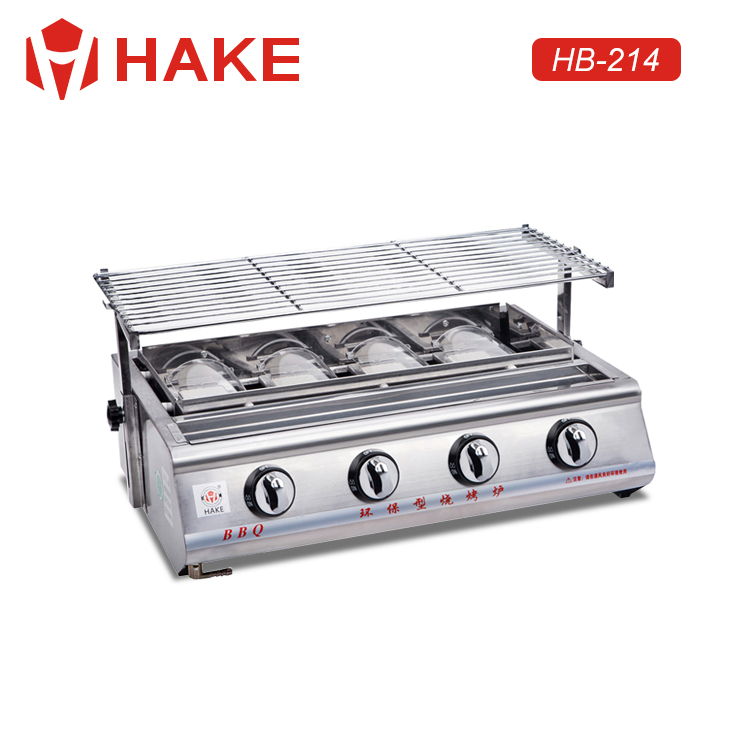 high quality 4 Burner Stainless Steel Commercial barbecue Gas BBQ Grill machine for wholesale