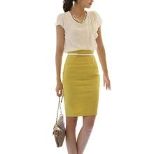 Dámská jednobarevná business sukně v různých barvách z Aliexpress