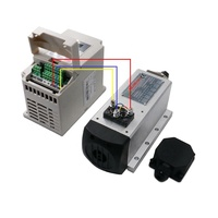 High-quality 1set 1.5kw 110v/220v inverter and er11 air cooled square spindle motor kit for milling machine spindle