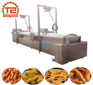 PLC Control Fried Tasty Chicken Fries Deep Frying Equipment