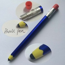 Factory price pencil shape ball pen with stylus