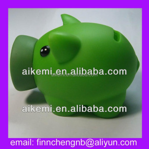 promotion gifts vinyl piggy bank plastic,home decoration plastic piggy bank,kids piggy bank pvc