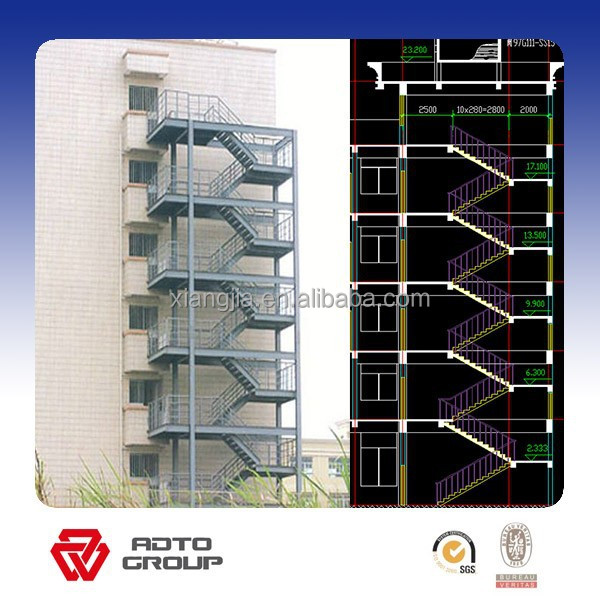 Outdoor Steel Staircase Design   Buy Outdoor Steel Staircase Product On  Alibaba.com
