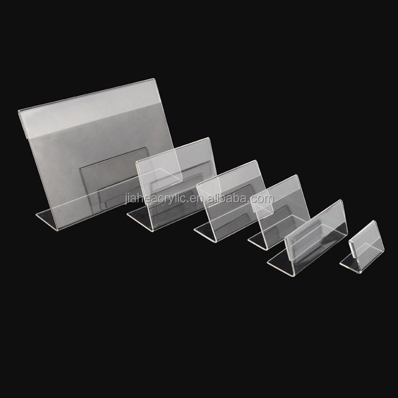 Crystal Clear Plastic Handmade Table Tent Acrylic Place