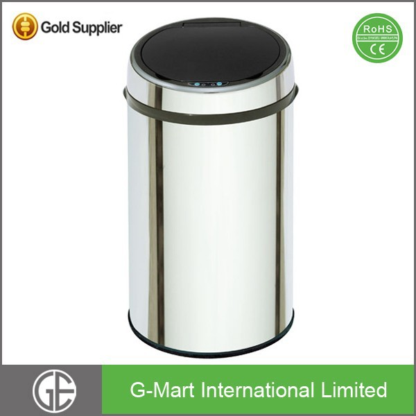 Eco-Friendly 30 Liter or 8 Gallon Touchless Stainless Sensor Metal Waste Container
