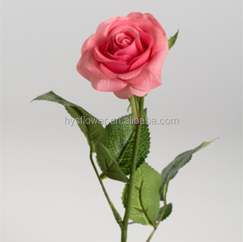 Real touch small pink rose artificial flowersingle long stem rose real touch small pink rose artificial flowersingle long stem rose flower mightylinksfo