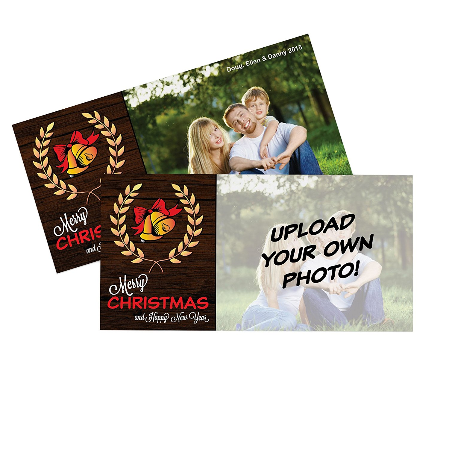 Cheap make custom greeting cards online find make custom greeting get quotations upload your own photo holiday cards 50 thick 4 x 8 postcard style m4hsunfo