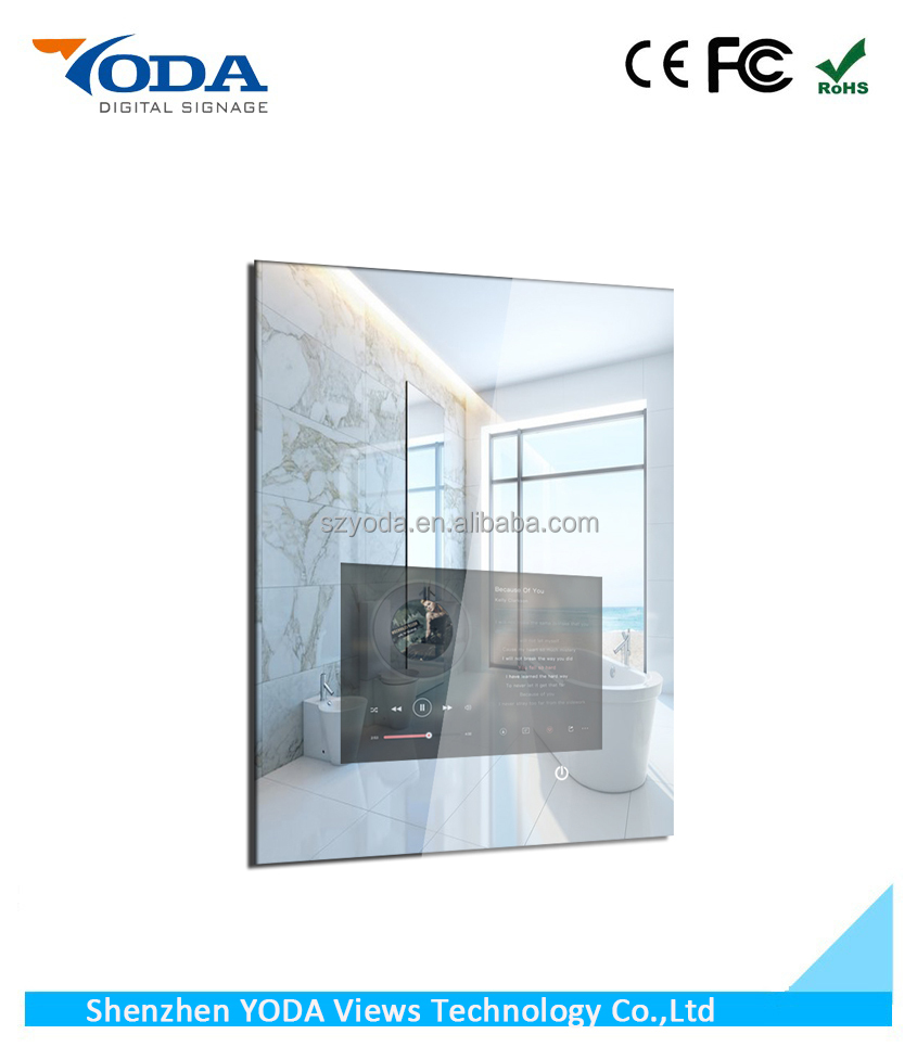 Hotel waterproof big mirror magic TFT LCD Display with touch screen